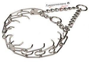 collier en metal pour dressage chien